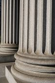 Ionic Columns on a New York City courthouse.