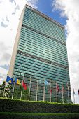 NEW YORK CITY - JUNE 16: The United Nations building in Manhattan is the official headquarters of th