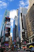 NEW YORK CITY - APRIL 18: The Famous Times Square offers landmark attractions and jumbotron billboar