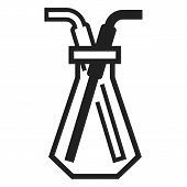 Chemical Glass Pipette Icon. Simple Illustration Of Chemical Glass Pipette Icon For Web Design Isola poster