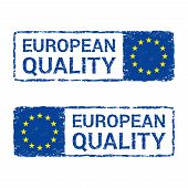 European Union Quality, Eu Vector Letter Stamp. Vector Illustration Of Letter Rubber Stamp With A Eu poster