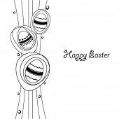 Easter eggs - vector illustration