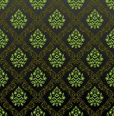 Seamless Wallpaper floral green. Vector illustration
