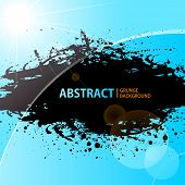 Abstract Grunge background shining sunlight. Vector illustration