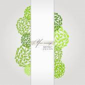 vector abstract banner green background design