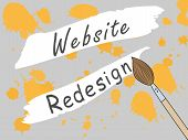 Page Design Site Closed For Redesign. Changing The Design Of The Site. Work On The Develop Of The Si poster