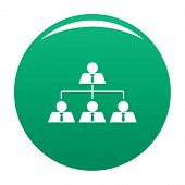 Leadership Icon. Simple Illustration Of Leadership Vector Icon For Any Design Green poster