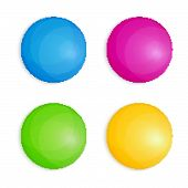 Web Buttons In Four Colors