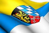 Flagge der Oberpfalz, Deutschland.