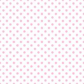 Pale Pink Polka Dots on White