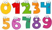 Funny Numbers Cartoon Characters .Collection