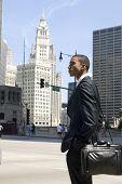 Corporate Black Man Downtown