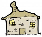 cartoon tumbledown old house