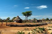 African tribal hut