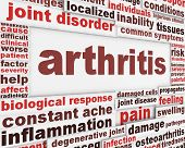 stock photo of joint inflammation  - Arthritis disease poster concept - JPG