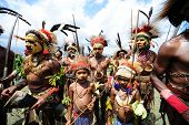 GOROKA, PAPUA, NEW GUINEA - SEPTEMBER 16:  unidentified aboriginals at Goroka Tribal Festival. Papua New Guinea on September 16, 2011