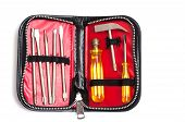 stock photo of etui  - Tool set in a case with zipper - JPG