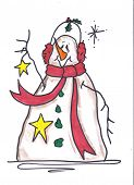 Snowman Star Gazer