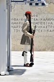 Soldier Standing In Athens