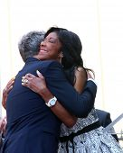 LOS ANGELES - MAY 31:  David Foster, Natalie Cole at the David Foster Hollywood Walk of Fame Star Ceremony at the Capital Records Building on May 31, 2013 in Los Angeles, CA