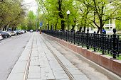 Carriageway Of Chistoprudniy Boulevard In Moscow
