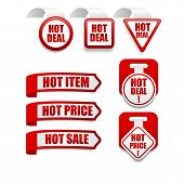 Hot Deal Stickers Set