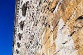 stock photo of crotons  - stone block wall of Old Croton Aqueduct - JPG