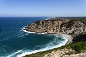 pic of promontory  - Cape Espichel is a historic place and mark near Sesimbra in Portugal name as barbaric Promontory by the Romans - JPG