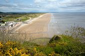 Pendine Sands Wales between Laugharne and Saundersfoot.    Known for the