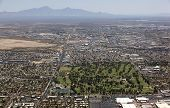 City Park And Golf Course From Above In Tucson, Arizona