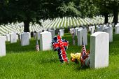 Memorial Day in Arlington National Cemetery - Washington DC United States