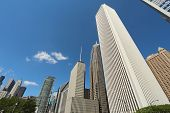 Skyscrapers In Downtown Chicago, Illinois
