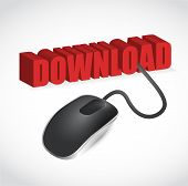 Computer Mouse And Word Download Illustration