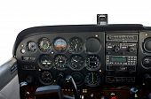 Cockpit Of Light Airplane.