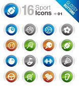 Glossy Buttons - Sport icons