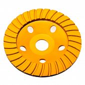 Diamond disk for concrete cutting and abrasion
