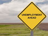 Unemployment Ahead - Caution Sign