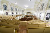MOSCOW - OCT 4: Hall of the Moscow Tchaikovsky Conservatory (top view) on October 4, 2012 in Moscow,
