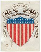 Vector. Vintage American label