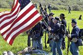 Unionstruppen in gettysburg