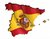 Spanish Map-flag