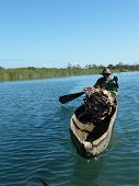 Native Malagasy Man On Boat