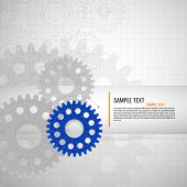foto of mechanical drawing  - Abstract technology background - JPG