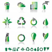 Set Of 12 Environmental Icons
