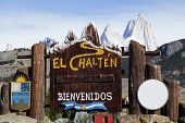 Welcome To El Chalten Sign