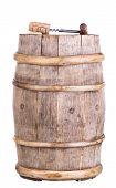 Wooden Vintage Wine Barrel With Corkscrew