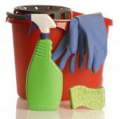 Cleaning Spray Bucket Gloves Sponge