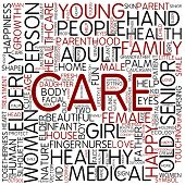 Word cloud - care