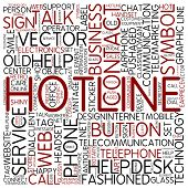 Word cloud - hotline