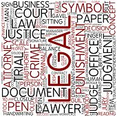 Word cloud - legal